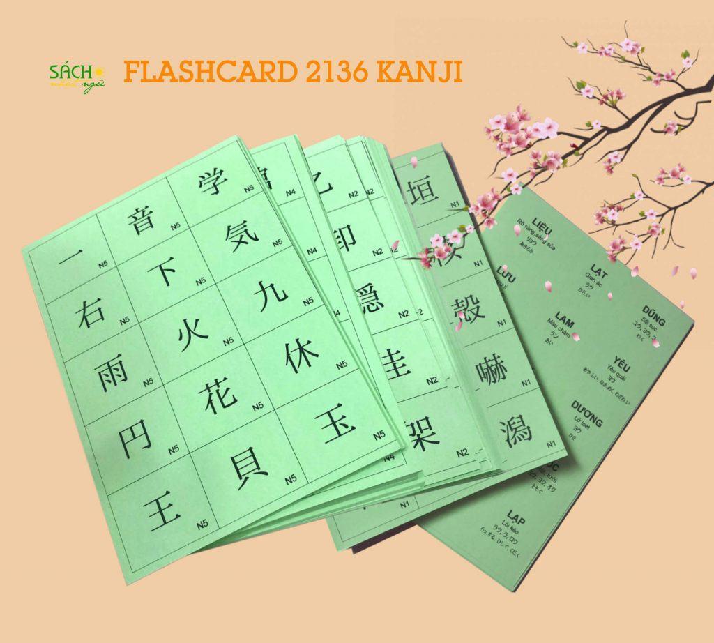 Bộ Flashcard 2136 Kanji JLTP N5 - N1 2