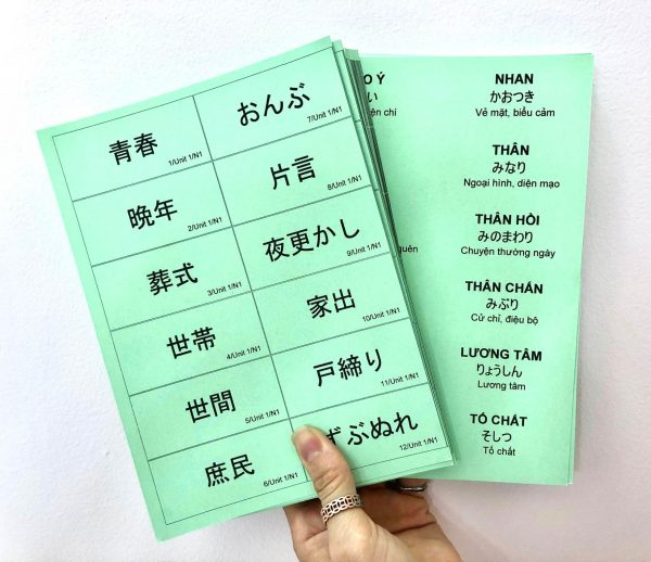 Flashcard từ vựng Mimikara N1 2