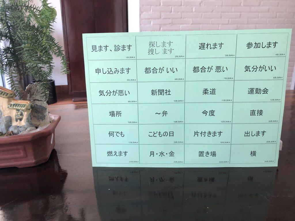 Flashcard từ vựng Kanji N4 4