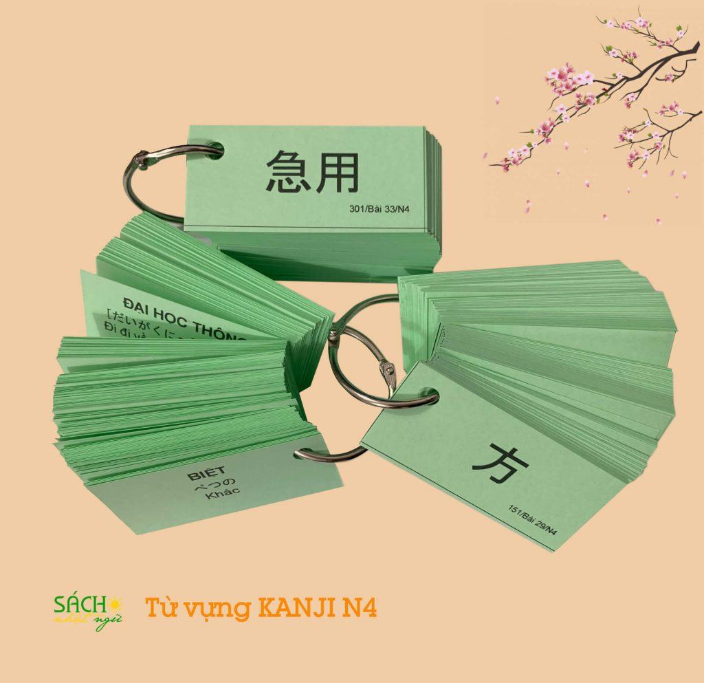Flashcard từ vựng Kannji N4