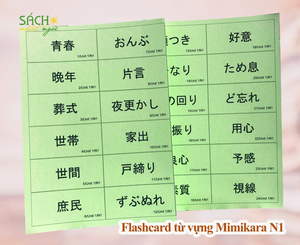Flashcard từ vựng Mimikara N1 5