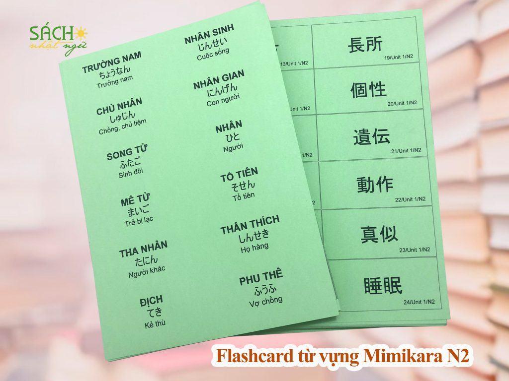 Flashcard từ vựng Mimikara N2 5